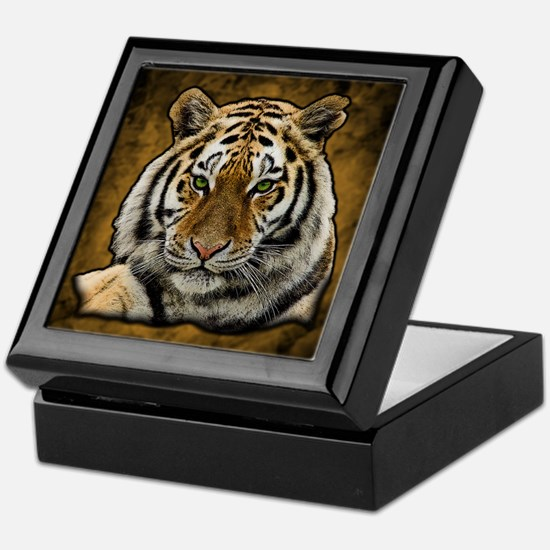 Unique Bengal white tigers Keepsake Box