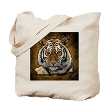 Cool White lion Tote Bag