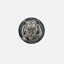 Unique White lion Mini Button
