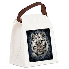 Cute Blue cat Canvas Lunch Bag