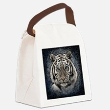 Cute White tiger Canvas Lunch Bag
