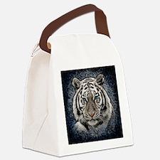 Cute White lion Canvas Lunch Bag