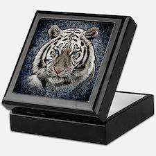 Cute Siberian white tigers Keepsake Box
