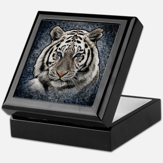 Cute Bengal white tigers Keepsake Box