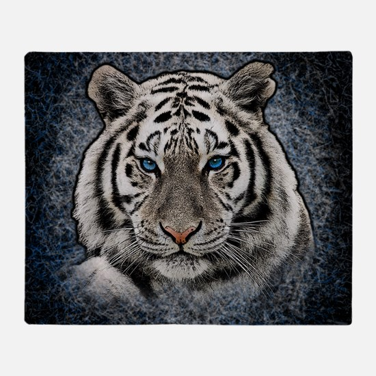 Cute White tigers Throw Blanket