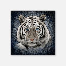 """Cute Blue cat Square Sticker 3"""" x 3"""""""