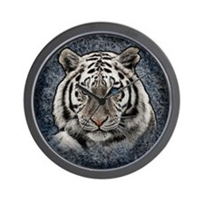 Funny White lion Wall Clock