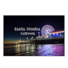 Santa Monica Postcards (Package of 8)