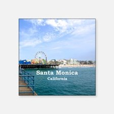 "Santa Monica Square Sticker 3"" x 3"""