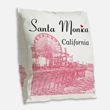 Santa Monica Burlap Throw Pillow