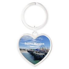 Santa Monica Heart Keychain