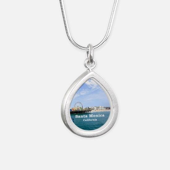 Santa Monica Silver Teardrop Necklace