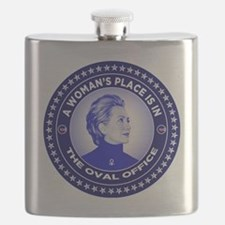 A Woman's Place is in the Oval Office Flask