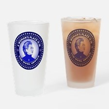 A Woman's Place is in the Oval Offi Drinking Glass