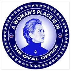 A Woman's Place is in the Oval Office Framed Print