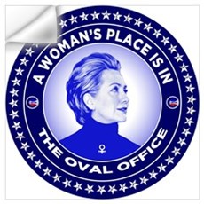 A Woman's Place is in the Oval Office Wall Decal