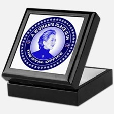 A Woman's Place is in the Oval Office Keepsake Box