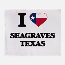 I love Seagraves Texas Throw Blanket