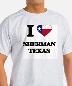 I love Sherman Texas T-Shirt