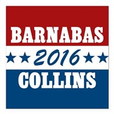 """Vote For Barnabas Collin Square Car Magnet 3"""" x 3"""""""