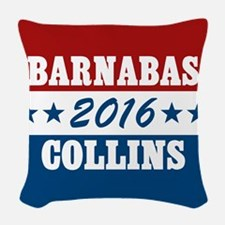 Vote For Barnabas Collins Woven Throw Pillow