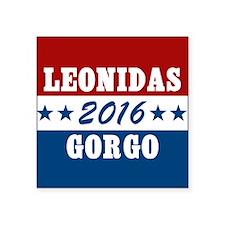 "300 Vote For Leonidas / Gor Square Sticker 3"" x 3"""