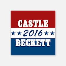 """Vote Castle Beckett 2016 Square Sticker 3"""" x 3"""""""