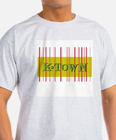 Gold K-Town Knoxville Retro Striped T-Shirt