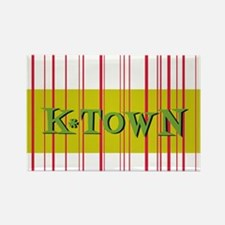 Gold K-Town Knoxville Retro Striped Rectangle Magn
