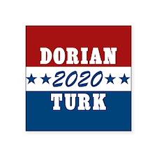 """Scrubs Vote Dorian/Turk 201 Square Sticker 3"""" x 3"""""""