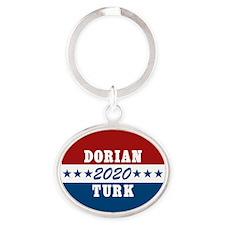 Scrubs Vote Dorian/Turk 2016 Oval Keychain
