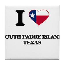 I love South Padre Island Texas Tile Coaster