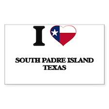 I love South Padre Island Texas Decal