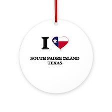 I love South Padre Island Texas Ornament (Round)