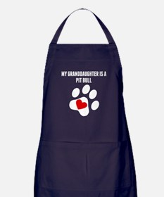 My Granddaughter Is A Pit Bull Apron (dark)