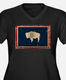 Wyoming Flag VINTAGE Plus Size T-Shirt
