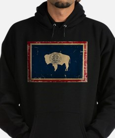 Wyoming Flag VINTAGE Hoody