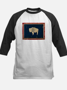 Wyoming Flag VINTAGE Baseball Jersey
