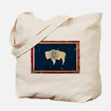 Wyoming Flag VINTAGE Tote Bag