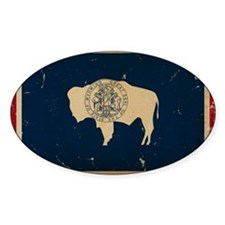 Wyoming Flag VINTAGE Decal