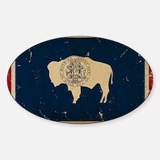Wyoming Flag VINTAGE Decal