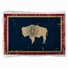 Wyoming Flag VINTAGE Pillow Sham
