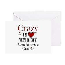 Perro de Pressa Canario Greeting Cards