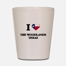 I love The Woodlands Texas Shot Glass