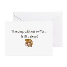 coffee lovers peets starbucks Greeting Cards (Pk o