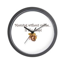 coffee lovers peets starbucks Wall Clock