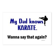 My Dad Knows Karate Postcards (Package of 8)