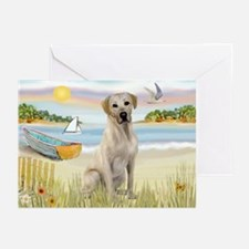 Rowboat & Yellow Lab Greeting Cards (Pk of 20)
