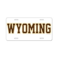 Wyoming Jersey Brown Aluminum License Plate