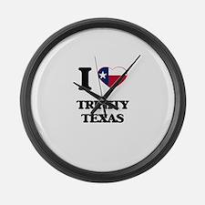 I love Trinity Texas Large Wall Clock
